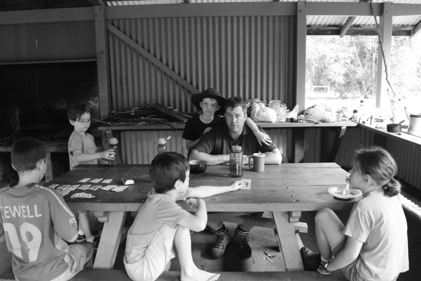 What a luxury - picnic tables at Colo Meroo